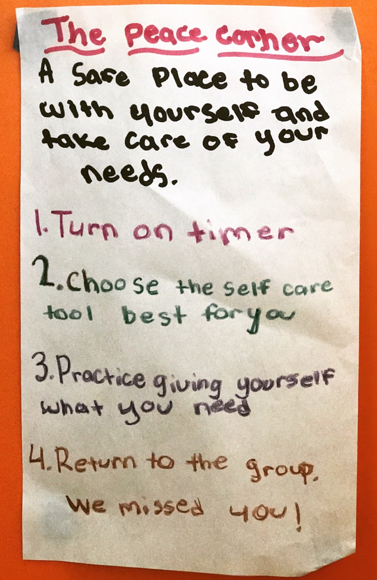 The Peace Corner: An Essential Classroom Resource - Little